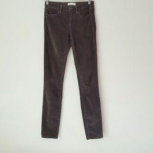 Madewell grey corduroy skinny jeans